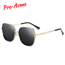 Pro Acme Luxury Brand Design Square Polarized Sunglasses for Women Metal Frame S