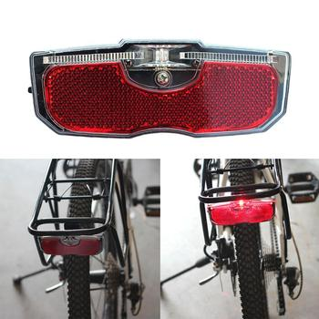 Bike Cycling Bicycle Rear Reflector Tail Light For Luggage Rack NO Battery Night Riding Safer Reflectors For Bicycles 자전거 후미 image