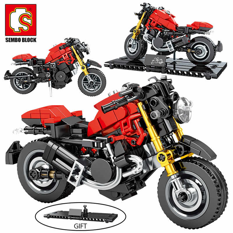 SEMBO MOC City Speed moto modello Building Blocks Technic moto creatore auto a motore mattoni giocattolo educativo per ragazzi
