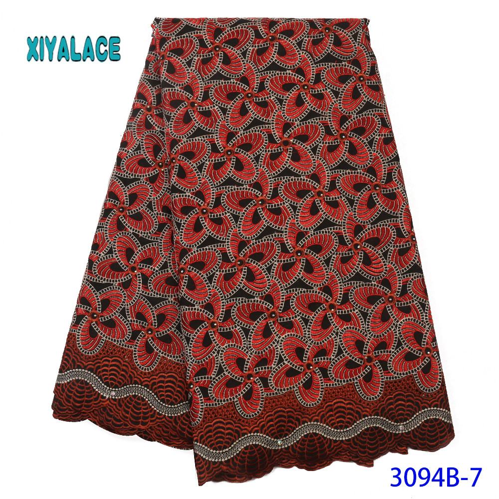 New Arrival African Swiss 100% Cotton Voile Lace In Switzerland Miminal Holes Nigerian Tulle Lace Fabric For Daily Dress YA3094B