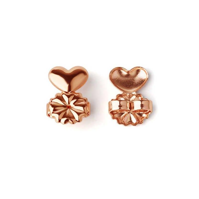 תמיכה זהב האופנה Stud מתנות הודעה מגבה עגיל תנוך בחזרה נשים היפואלרגנית בנות מתאים עגילי כסף מרים אגוז