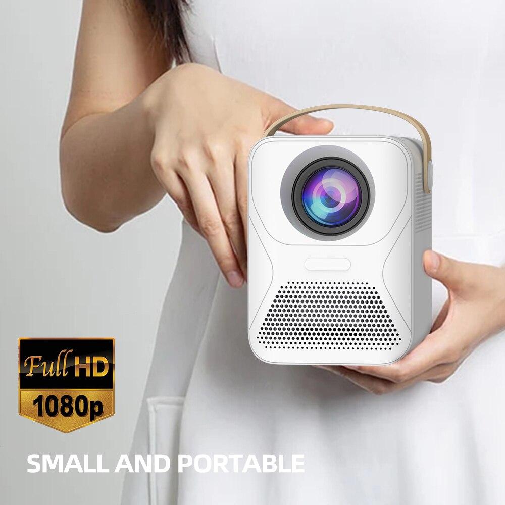 Salange P56 Мини Full HD проектор Led ТВ видео проектор телефон фильм Wifi 8000 мАч домашний кинотеатр Совместимые Ноутбуки, ПК, PS4
