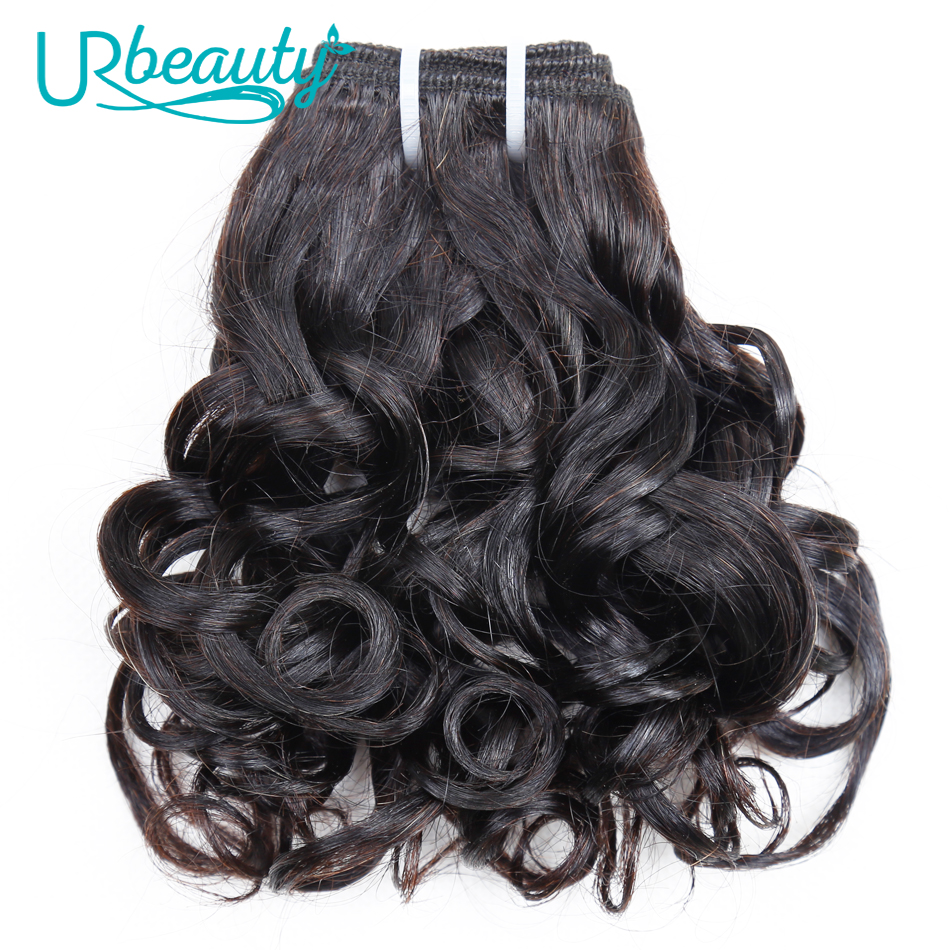 25g/pc 100% Human Hair Bundles Brazilian Wavy Hair Bundles Natural Black Color UR Beauty Remy Hair Can Buy 8 Or 10 Piece/lots
