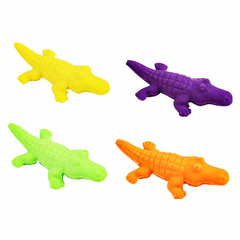 4 Pcs/pack Creative Novelty Cute Crocodile Shape Eraser Stationery Office School Correction Supplies Papelaria Child's Toy Gift