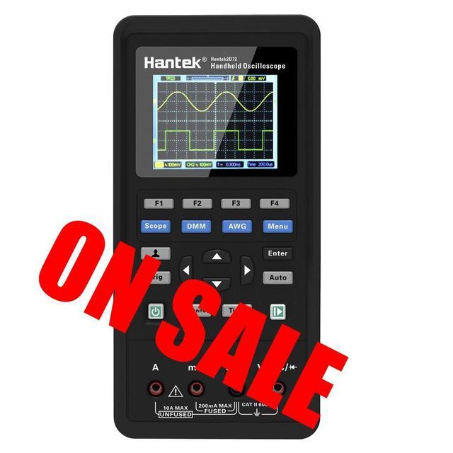 Hantek 3in1 dijital el osiloskop 2c42 2d42 2c72 2d72 taşınabilir 40mhz 70mhz bant genişliği 250 msa/s