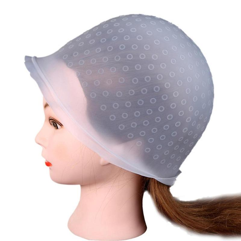Reusable Silicone Coloring Highlighting Dye Cap Hat Hot Selling Safety Breathable Hook Women Styling Tool Hair Dyeing Tool