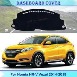 Car High quality Dashboard Cover Protective Pad For Honda HR-V Vezel 2014-2019 HRV HR V Accessories Non-slip Anti-UV