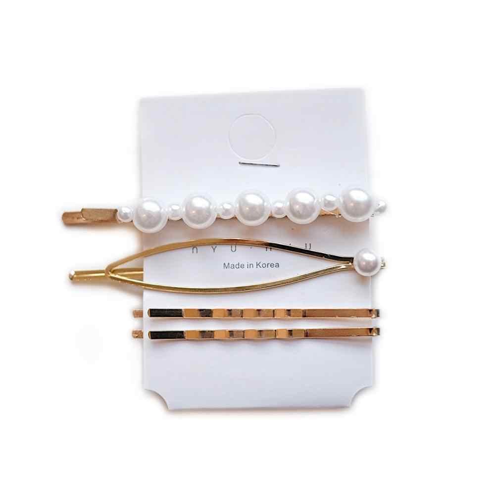 3 pièces/ensemble métal perles pinces à cheveux pour femmes bandeaux peigne épingle à cheveux Barrettes épingles à cheveux chapeaux cheveux accessoires outils de coiffure
