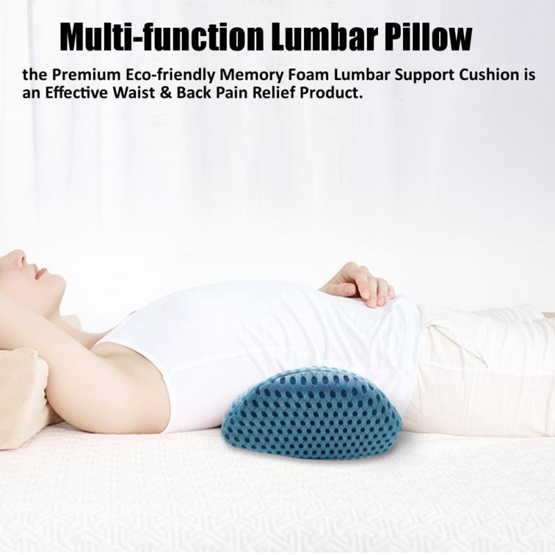 Waist Car Plane Office Chair Sleeping Multi-Functional Lumbar Support Pillow Lower Back Memory Foam Prevent Muscle Strain