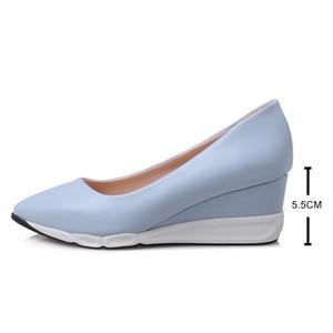 Image 3 - Donne di Pompe Della Piattaforma del Cuneo delle Donne Comodi Tacchi Alti 2019 Primavera Autunno Moda Femminile Scarpe Da Donna Zapatillas Mujer