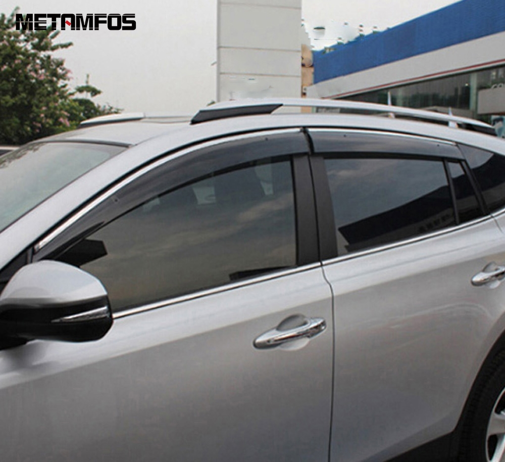 For Toyota Rav4 <font><b>Rav</b></font> <font><b>4</b></font> 2014-2017 <font><b>2018</b></font> Window Visor Sun Shade Rain Guard Shield Awning Shelter Exterior Accessories Car Styling image