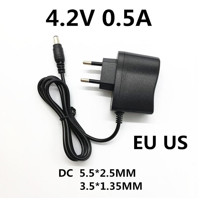 Зарядное устройство для литиевых полимерных батарей, адаптер питания для фар, 100-240 в перем. Тока, 4,2 В, 0,5 А, 500 мА