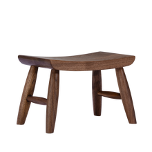 Nordic minimalist shoe changing stool black walnut solid wood curved sgabello child small seat