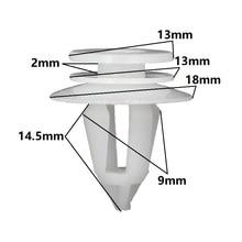 KA LI Door Panel Trim Retaining Clip 30 Pcs For Toyota White Snaps Fastener