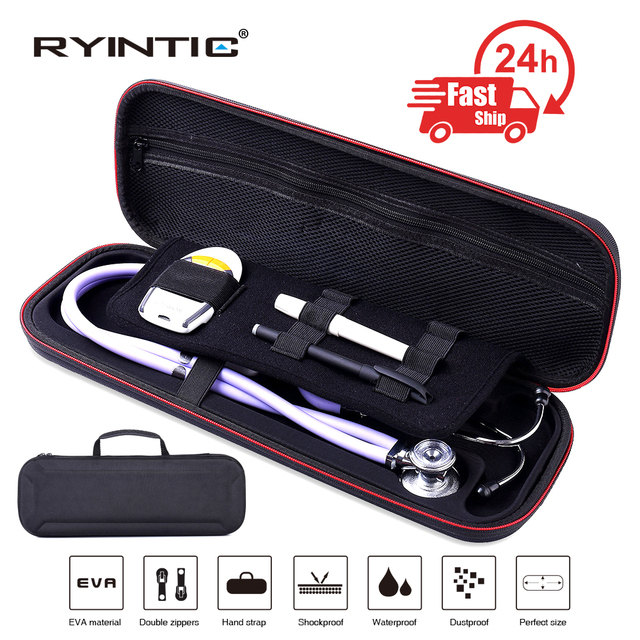 Multifunction Top Stethoscope Hard Carrying Bag Case For 3M Littmann Classic III / MDF / ADC / Omron,Mesh Pocket for acceeories