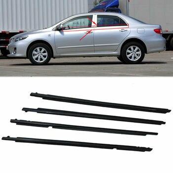 Para Toyota Corolla 2007-2014 moldura de ventana de coche embellecedor Weatherstrip cinturón de sellado 95cm x4 Uds