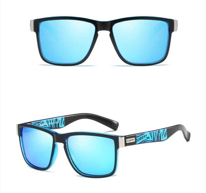 DUBERY Polarized Sunglasses Fishing Camping Hiking Sunglasses Male Sun Glasses For Men Retro Cheap Luxury Brand Designer