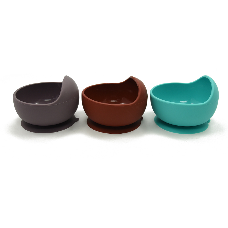 New Colors Baby Feeding Bowl BPA Free Silicone Waterproof Non-Slip Suction Bowl Eco-friendly Material Baby Bowl
