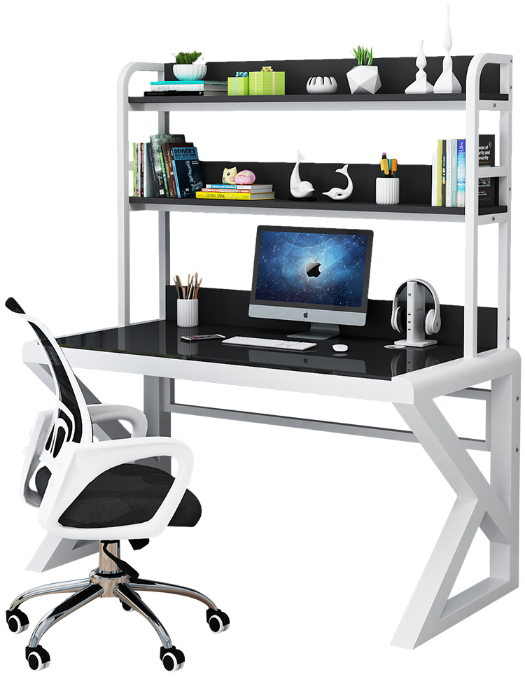 Computer Desk Table Home Simple Modern Economy Desk Toughened Glass Learning Game E-sports Table Desk Desk