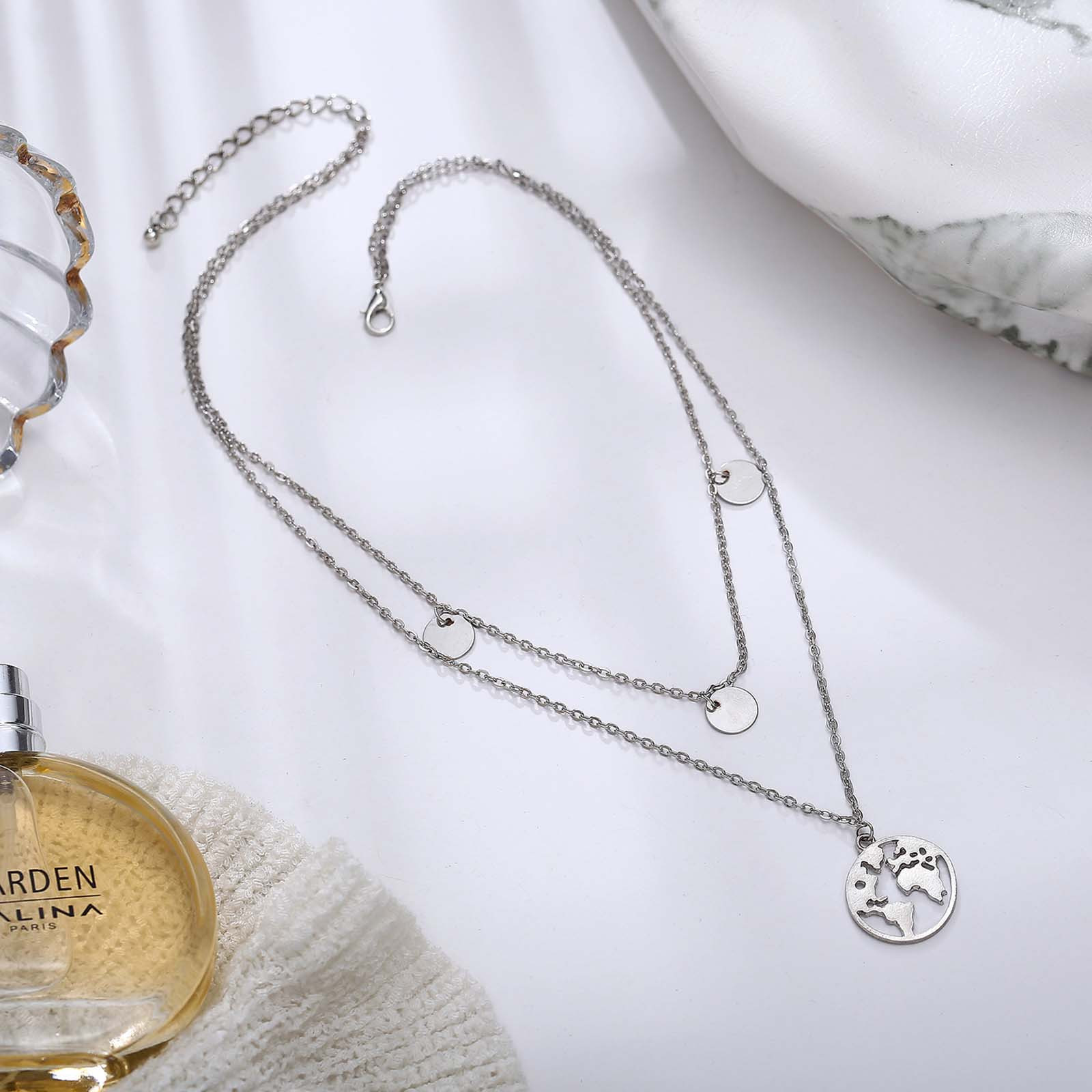 Women's Moon Star Pendant Choker Necklace Gold Silver Long Chain Jewelry 2020 Trendy Jewelry Necklace Collar De Mujer L3