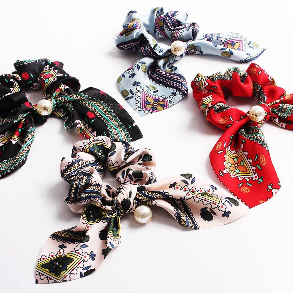 FeiFei66 1PC Women Fashion Bow Knot Dot Print Hairband Women Hair Bands Sweet Girls Hairbands