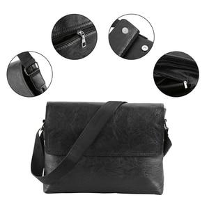 Image 3 - Fashion Mens Handbag Male PU Leather Messenger Bags for Man Casual Business Vintage Crossbody Bag