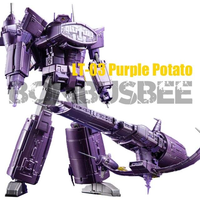 【In Coming】Action Figure Toy Transformation Lemon Tree LT-03 Purple Potato Shock Spaceship Wave Cruiser Plastic ABS High Detail
