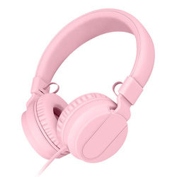 Cute Wired Headphones With MIC Over Ear Headset Stereo Bass Earphone HiFi Sound Headphone Music Auriculare For phone Grils Kids