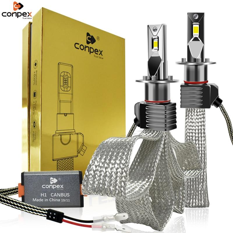 Conpex H7 H4 CSP светодиодный фар автомобиля лампы H1 H11 H3 H8 H7 H9 9006 canbus фары 12v 4000LM 37 Вт Высокий Низкий Луч авто светодиодный фар