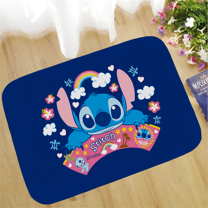 Disney Stitch Anti-slip Stripe Doormat Floor Rug Kitchen Carpet Floor Mat  Way Feet Mat Bath Rug Kitchen Rug Balcony Bathroom