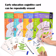 цена на Early Education Flash Card Letter-Number Word Writing Cognitive Card Can Rewrite and Practice Handwriting Repeatedly