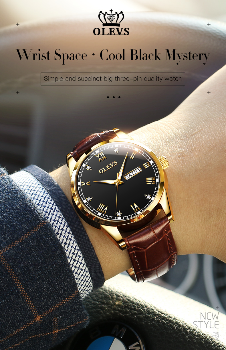 Olevs 6896 Leather Watch for Men 9