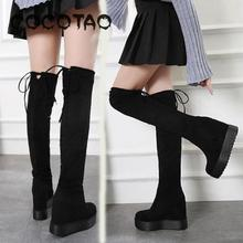 The New 2019 Boot Thin Leg Thick Bottom Increased Knee-high Boots Fashion  Shoes Woman Women Winter Thigh High