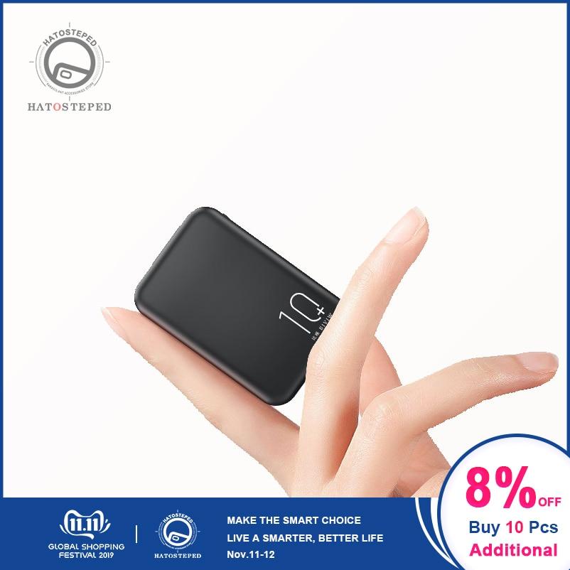 20000mAh Mini Power Bank Tpye-C Mirco USB Intput Quick Charge Side Display Portable Charger Dual USB Fast Output Powerbank