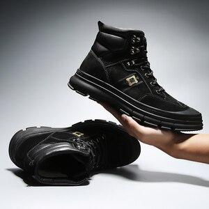 Image 4 - Misalwa moda ao ar livre inverno exército botas militares do deserto dos homens botas de pelúcia respirável trabalho safty tênis plus size 38 46
