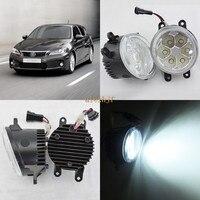 July King 18W 6500K 6LEDs LED Daytime Running Lights LED Fog Lamp case for Lexus CT200h 2011 2014, over 1260LM/pc