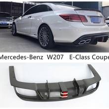 Задний спойлер из углеродного волокна для Mercedes-Benz W207 E-Class Coupe E260 E300 E320 E63 бампер диффузор спойлеры