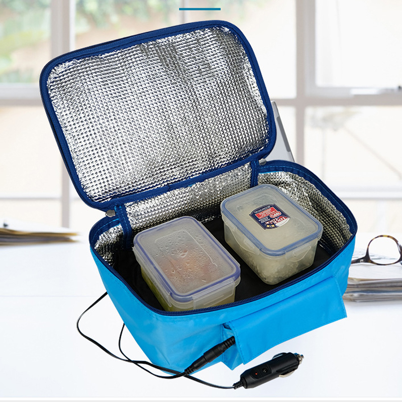 110v/220V Personal Portable Lunch Oven Bag Instant Food Heater Warmer Electric Oven PE Alloy Heating Lunch Box Bento box image
