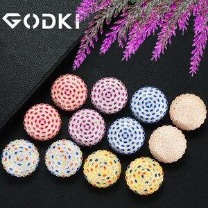 Image 2 - GODKI Fashion Korea Statement Earrings 2020 For Women Wedding Dubai Bridal Earring Bohemia Hot Modern Jewelry