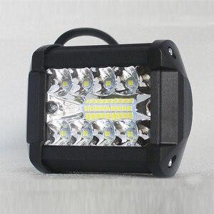 """Image 3 - Barre lumineuse de travail lumière Led Bar, phare antibrouillard, pour camion, pour bateau, 4x4 Combo, 60W, 4 """", phare 12V"""