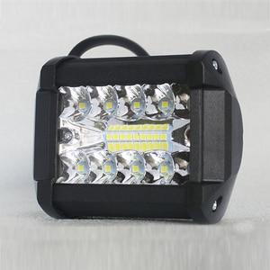 Image 3 - Listwa świetlna Led 4 Cal 60W listwa świetlna LED robocza Combo Offroad 4x4 światło przeciwmgielne światło drogowe lampa do ciężarówki 12V reflektor do łodzi