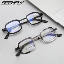 Seemfly Anti Blue Light Reading Glasses Women Men Metal Presbyopic Eyeglasses Female Male Hyperopia Eyewear Square Spectacles