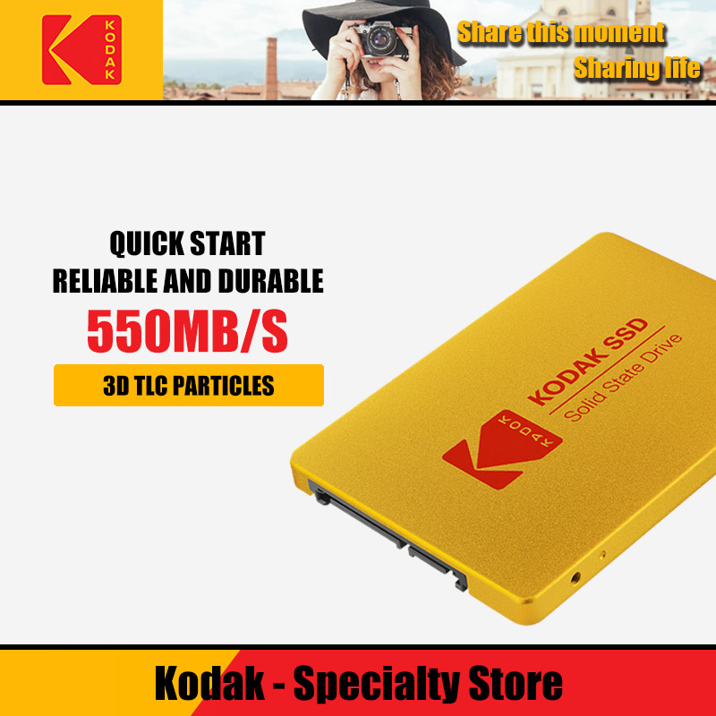 Kodak Digital X100 <font><b>SSD</b></font> <font><b>120GB</b></font> 240GB 480GB <font><b>SATA</b></font> 3 2.5 inch Internal Solid State Drive HDD Hard Disk HD <font><b>SSD</b></font> 960gb Notebook PC image