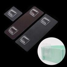 2/5 шт прозрачный бесследный прочный крючок на липучке наклейка на полку для ванной комнаты Водонепроницаемая кухонная настенная вешалка, крюк