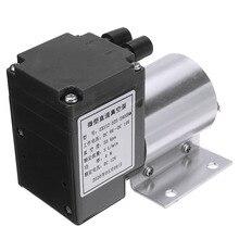 1 adet elektrikli Mini vakumlu hava pompası yüksek basınçlı emme diyaframlı pompalar 5L/dak 80kpa DC 12V için tutucu ile kimyasal sanayi