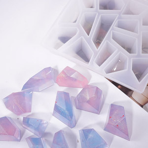 3D Crystal Irregular Stone Silicone Mold for Epoxy Resin Jewelry Making DIY Crafts