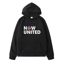 Agora united-melhor álbum moletom com capuz masculino feminino melhor agora united letras pulôver unissex harajuku tracksui moletom