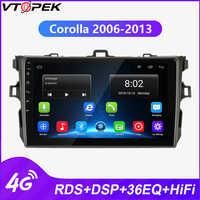 Vtopek Android lecteur multimédia auto radio pour Toyota Corolla E140/150 2006-2013 GPS Navigation 4G réseau WIFI RDS DSP
