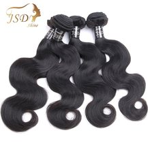 JSDShine Brazilian Body Wave Hair Bundles Natural Color 100% Human Hair Weave Bundles 8-28inch Non Remy Hair Extension 4 Pieces(China)