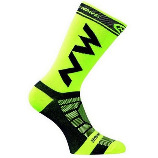 Meias esportivas para corrida e ciclismo, 1 par de meias respiráveis para homens e mulheres, escalada, acampamento, futebol, basquete 5